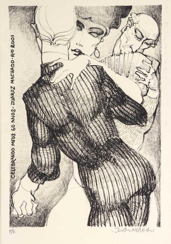 317 - Juarez Machado - 35x35cm - Litografia - ano 2001 - Tiragem 500 (3) (1)