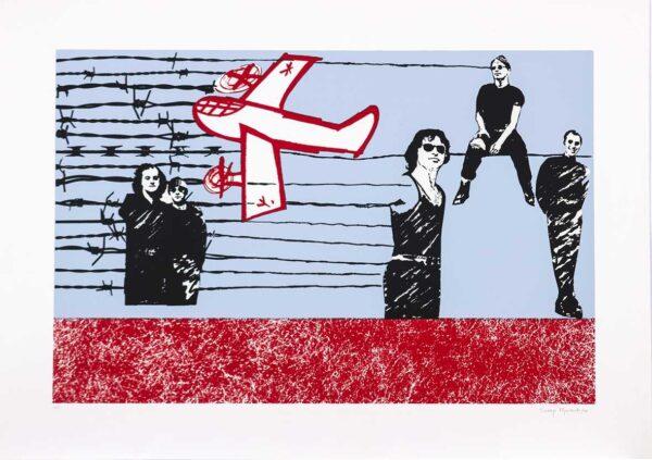 396 - Thereza Miranda - 50x70cm - Serigrafia - Ano 1995 - Tiragem 100