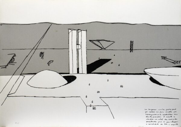 664 - Oscar Niemyer - Serigrafia - 50x70cm