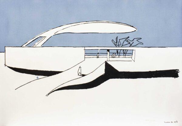 665 - Oscar Niemyer - Serigrafia - 50x70cm
